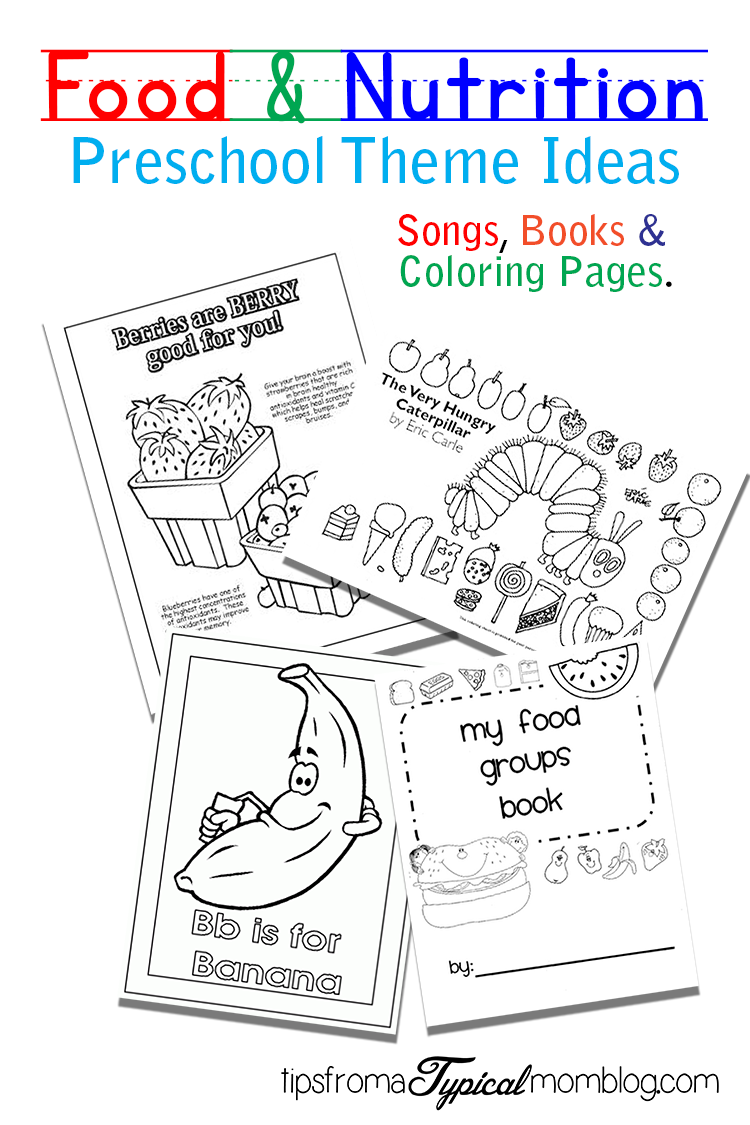 Food Worksheets For Preschoolers : Food and nutrition theme preschool songs printables