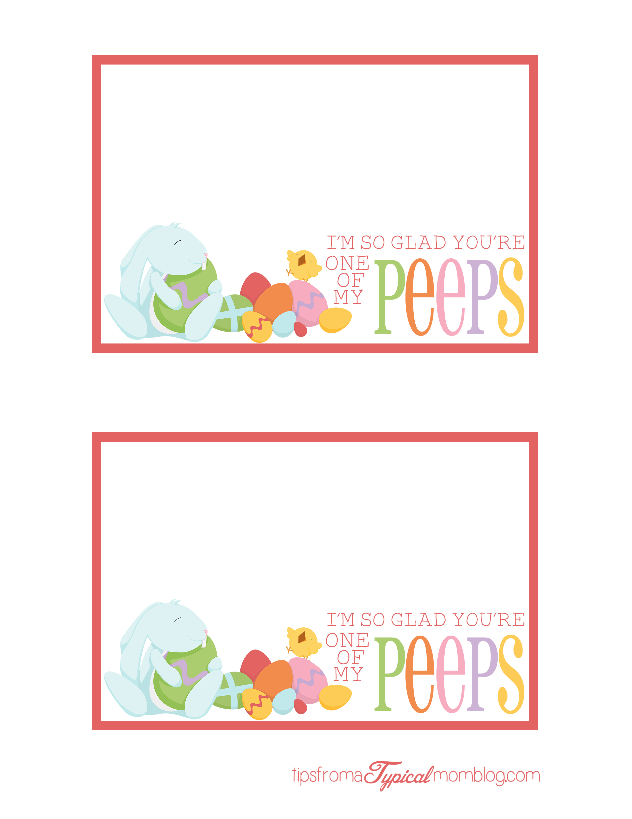 Free Easter Printable I M So Glad You Re One Of My Peeps
