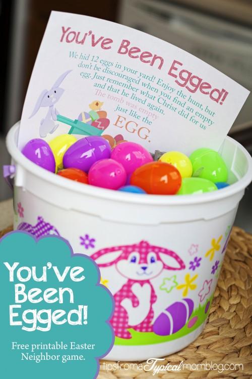 You've Been Egged- Free Printable Neighbor Easter Game
