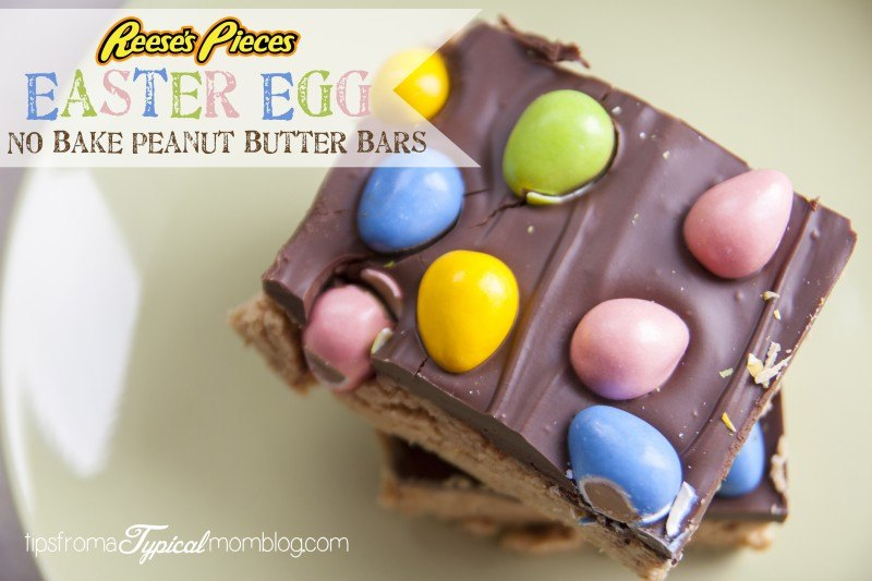 Reeses Pieces No Bake Peanut Butter Bars