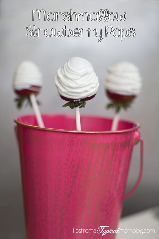 Marshmallow Strawberry Pops
