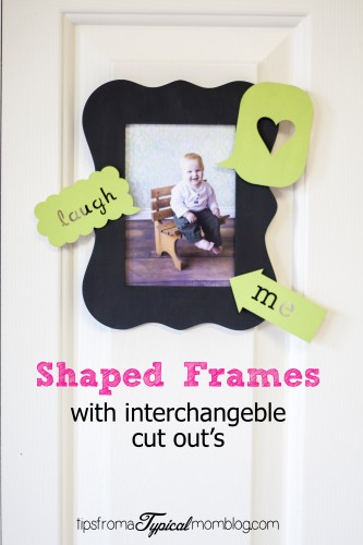 Shaped Frames with Interchageable Cut Outs