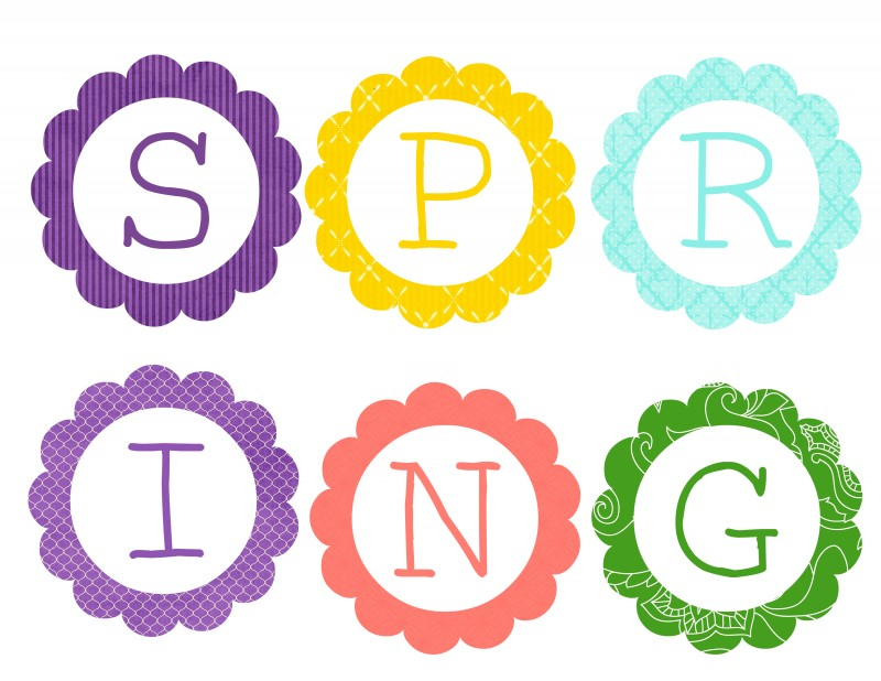 image about Spring Printable known as Absolutely free Printable Spring Banner Bunting