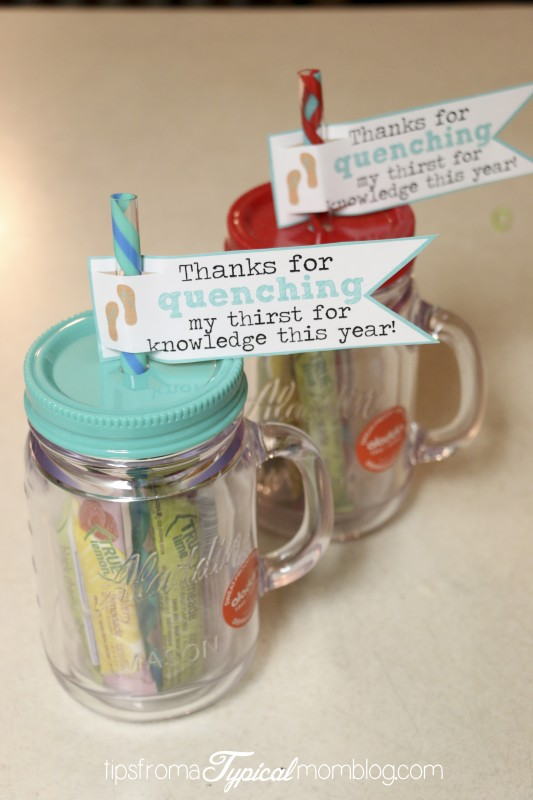 Free Printable End of School Year Teacher Gift.