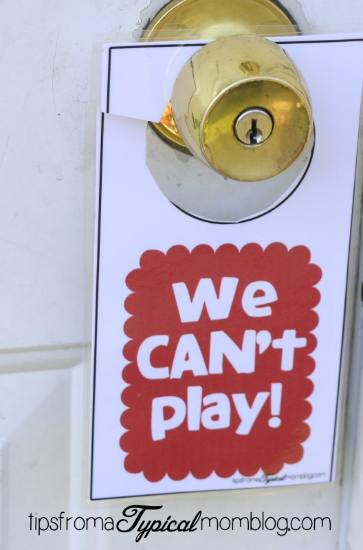 We can can't play door hangers.