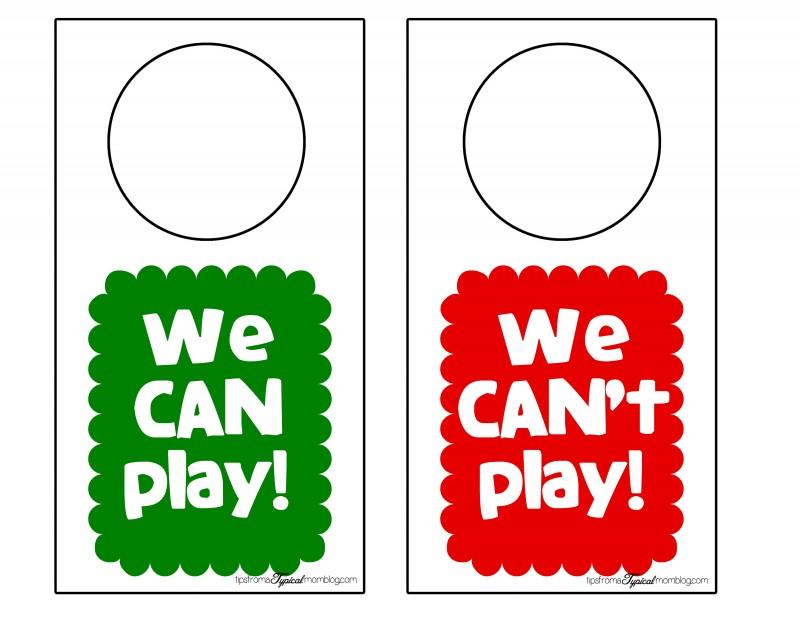 We can can't play door hangers