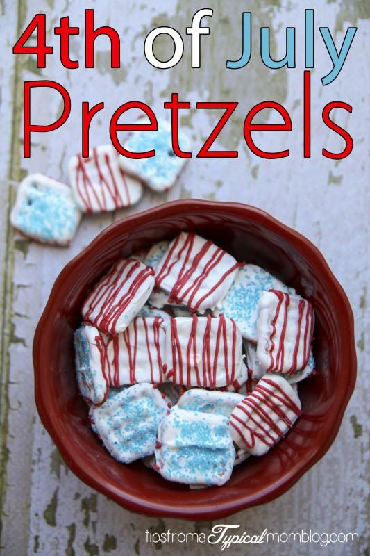 4th of July Pretzels tutorial