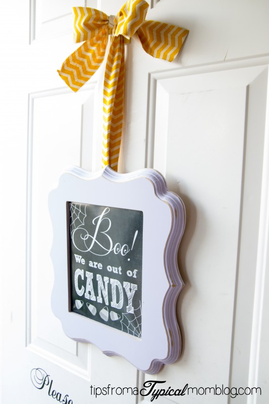 Boo We Are Out Of Candy Halloween Free Printable Door Sign