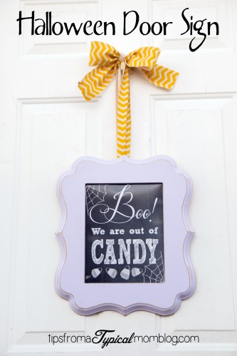 Boo We Are Out Of Candy Free Printable Halloween Door Sign