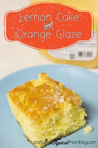 Lemon Cake and Orange Glaze