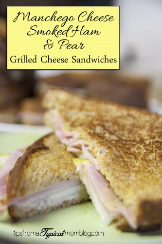 Manchego Grilled Cheese Sandwiches with Smoked Ham and Fresh Pear
