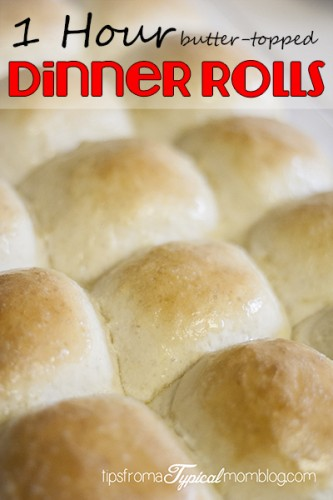 1 Hour Butter Topped Dinner Rolls