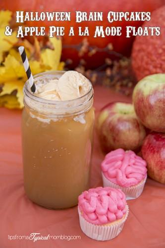 Halloween Brain Cupcakes Apple Pie a la Mode Floats
