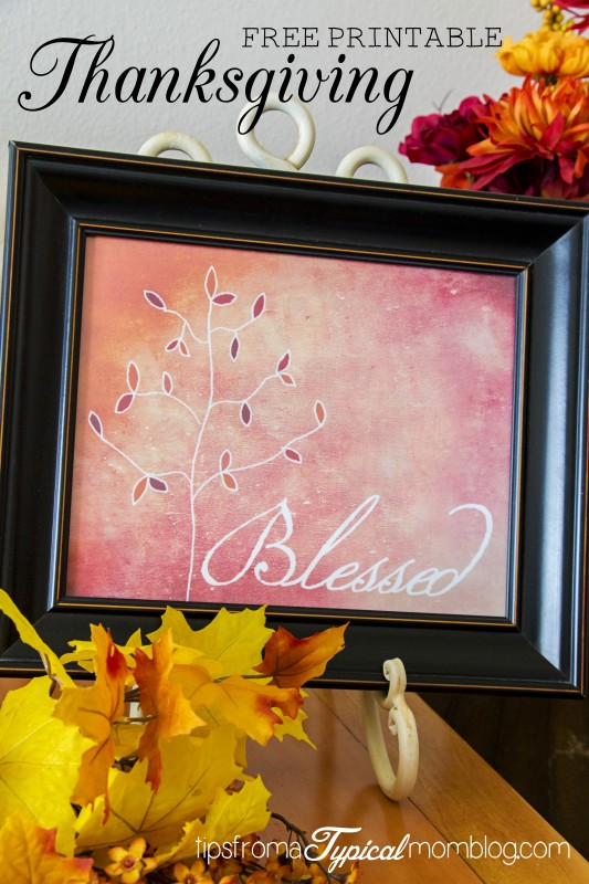 Thanksgiving Blessed Free Printable