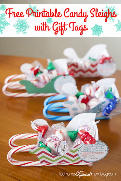 Free printable candy sleighs with gift tags negle Image collections