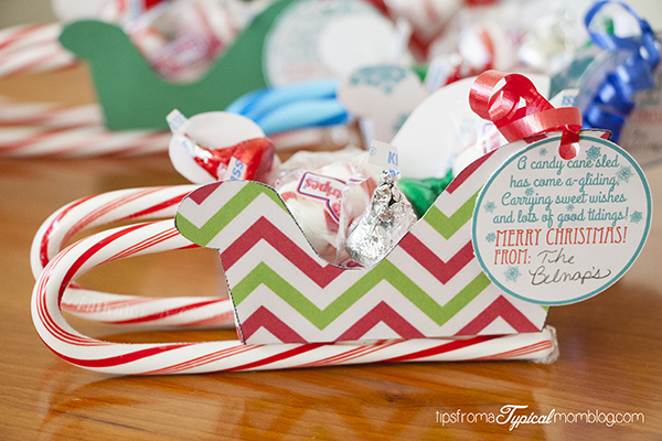 edible christmas craft ideas free printable sleighs with gift tags design dazzle 4391