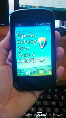 Getting Your Teen a Cell Phone