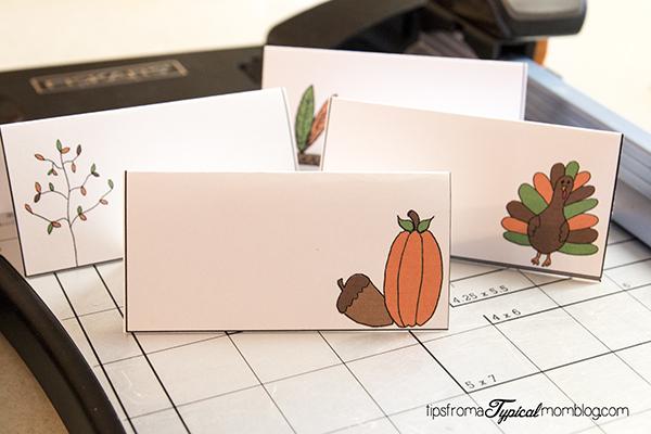 Thanksgiving Dinner Free Printables