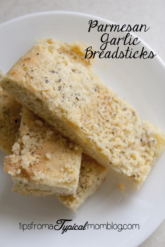 Easy Homemade Garlic Parmesan Breadsticks