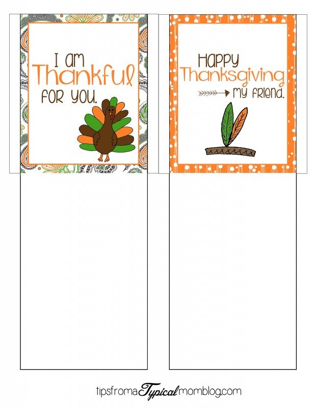 Printable Thanksgiving Cuttlery Holders