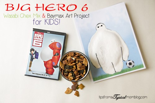 Big Hero 6 Wasabi Chex Mix and Baymax art project