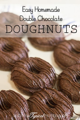 Easy Double Chocolate Doughnuts