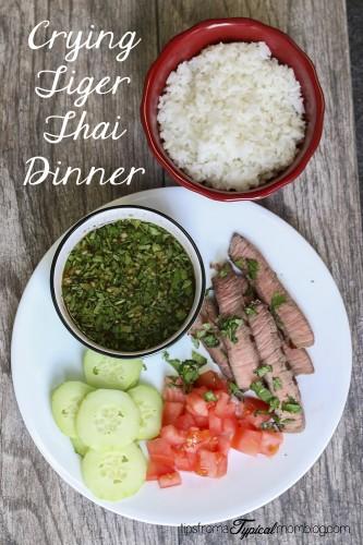 Crying Tiger Thai Dinner