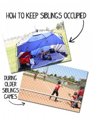 How to Keep Siblings Occupied During Older Siblings Games