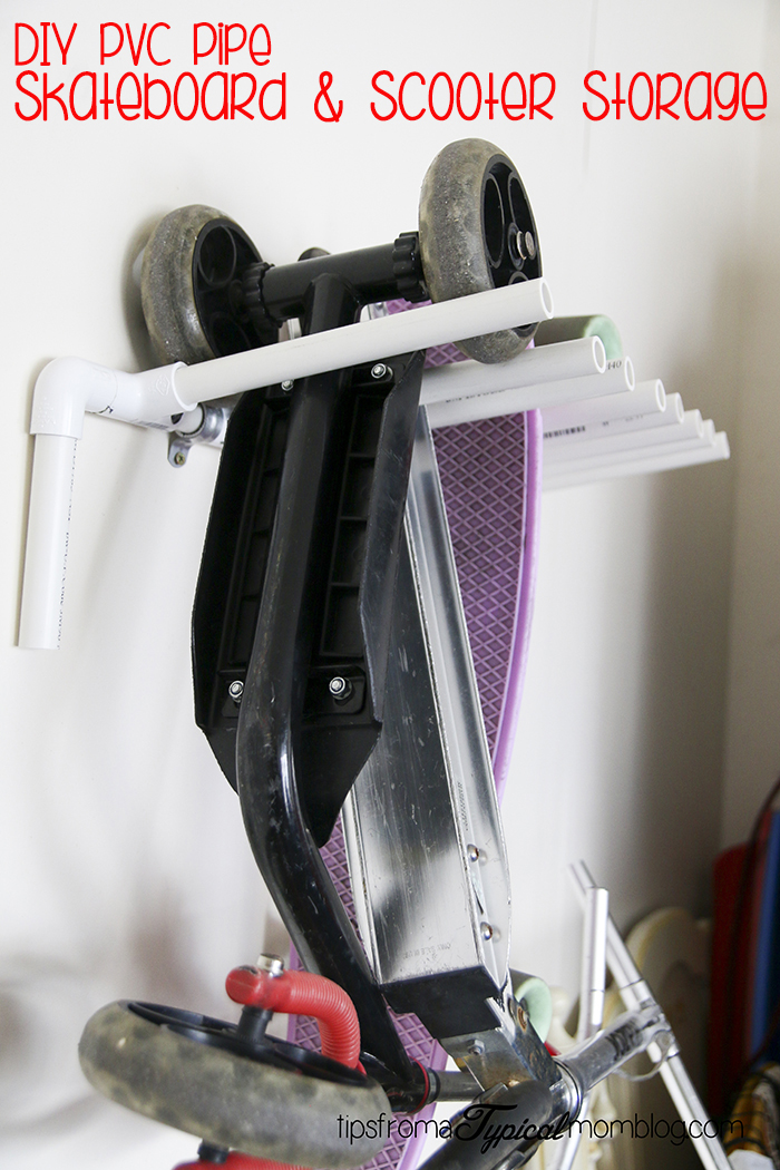 Diy Pvc Pipe Skateboard And Scooter Storage Rack For The