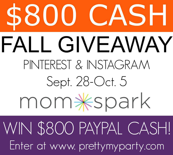$800 Fall Cash Giveaway!