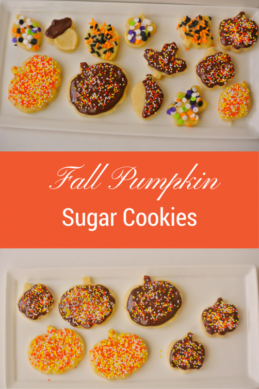 Fall Pumpkin Sugar Cookies
