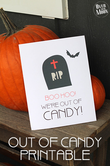 BOO HOO We're Out of Candy~ Halloween Printable