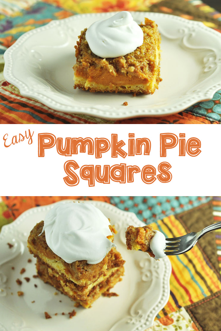 Easy Pumpkin Pie Squares