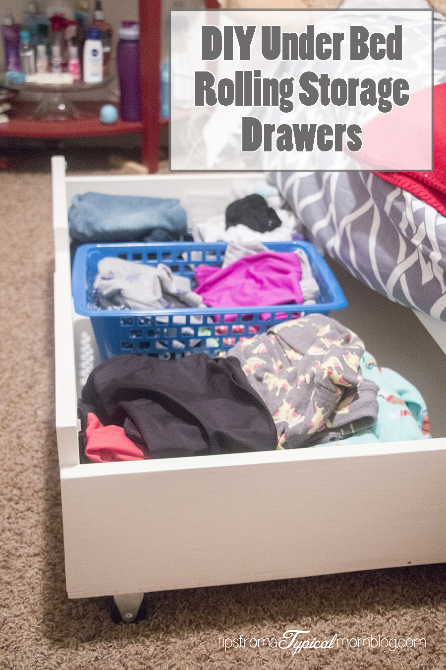 DIY Under Bed Storage Drawers