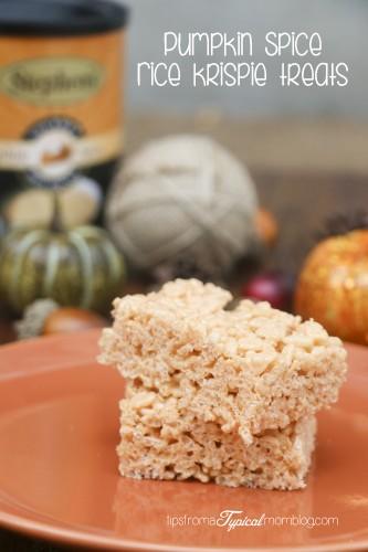 Pumpkin Spice Rice Krispies Treats~ with Stephen's Gourmet