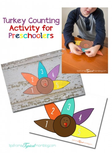 Turkey Preschool Counting & Fine Motor Activity
