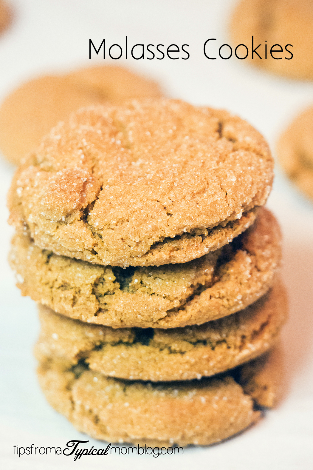 Soft and Chewy Molasses Cookies - Tips from a Typical Mom