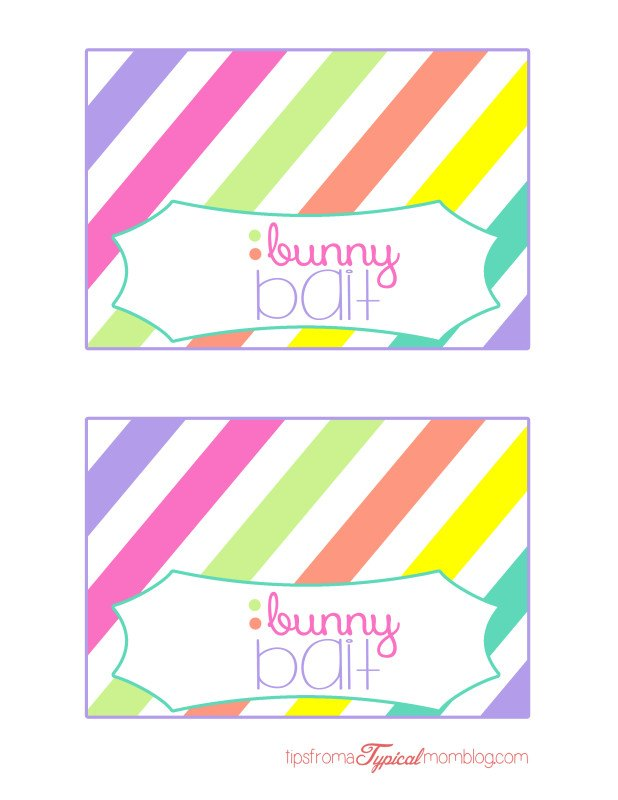 Easter bunny bait treat bags free printable tips from a typical mom bunny bait free printable easter treat bag toppers negle Image collections