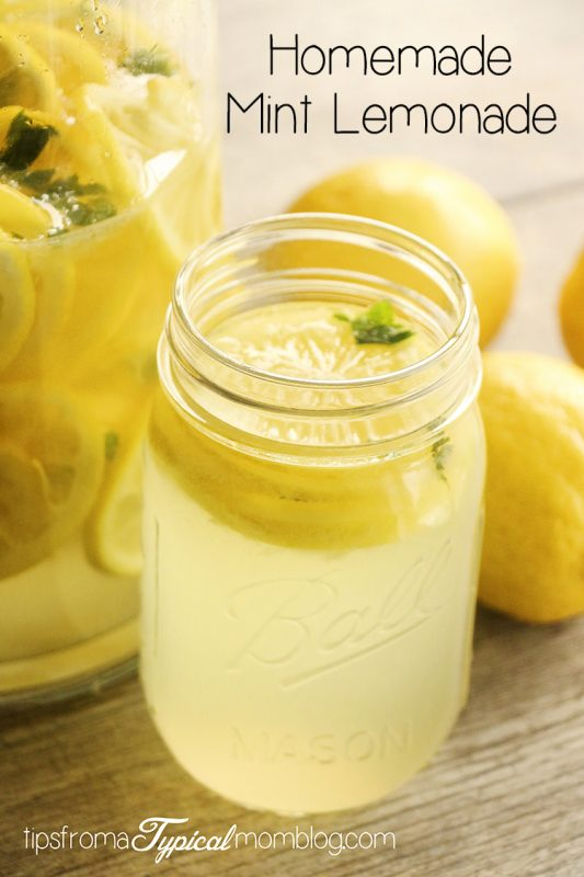 Homemade Mint Lemonade - Tips from a Typical Mom