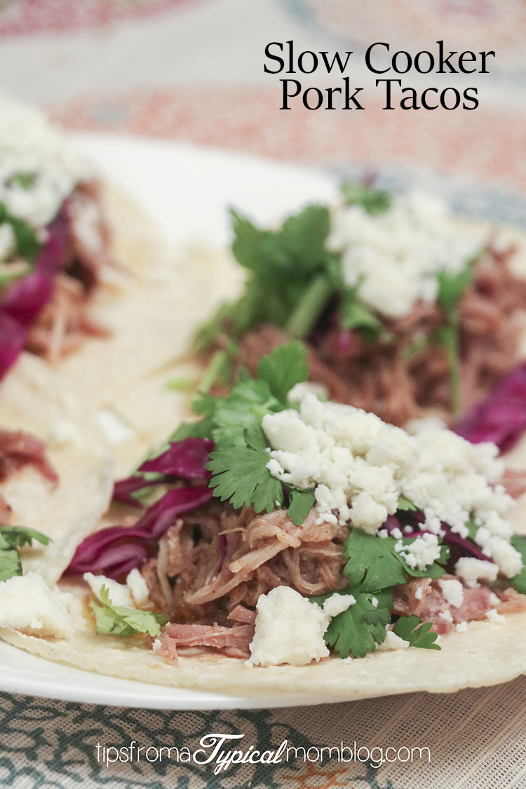 Easy Slow Cooker Pork Tacos - Tips from a Typical Mom