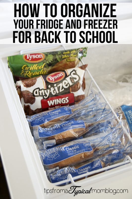(Ad) How to Organize Your Fridge and Freezer for Back to School