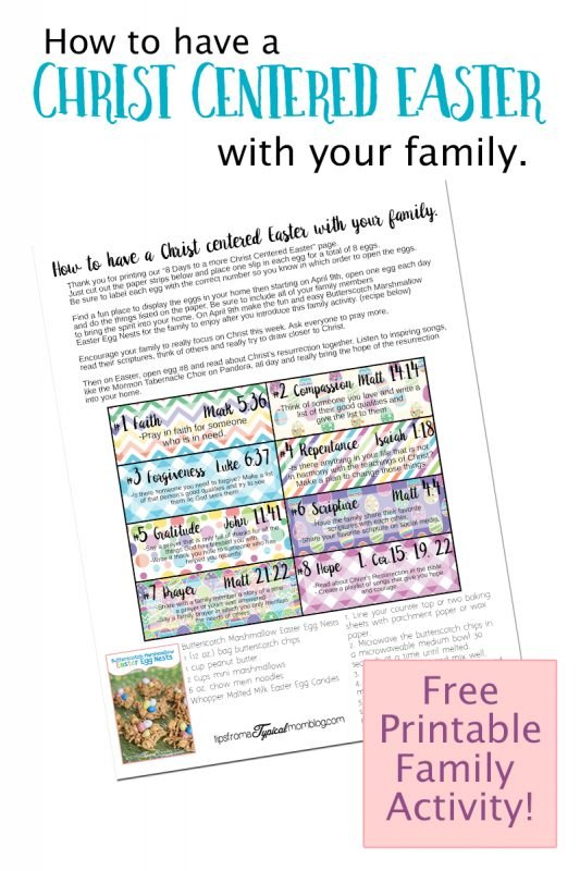 How to have a Chrst Centered Easter with your Family Printable