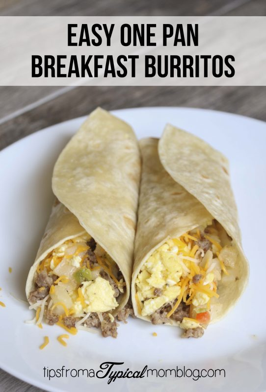Easy One Pan Breakfast Burritos - Tips from a Typical Mom