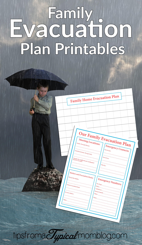 Family Emergency Evacuation Printables + Free Preparedness ...